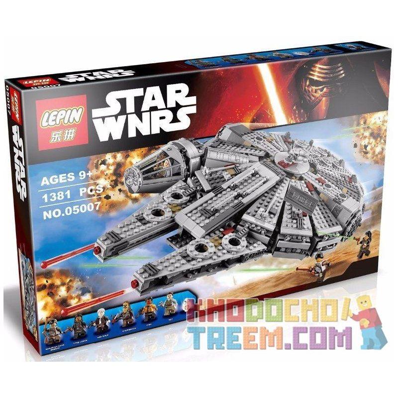 Lepin 05007 Bela 10467 Lele 79211 (NOT Lego Star wars 75105 Millennium Falcon ) Xếp hình Phi Thuyền Chim Ưng Ngàn Tuổi Vừa 1381 khối