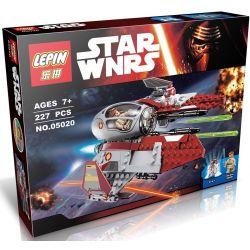 Lepin 05020 Bela 10575 (NOT Lego Star wars 75135 Obi-Wan's Jedi Interceptor ) Xếp hình Phi Thuyền Chiến Đấu 227 khối