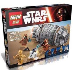 Lepin 05021 Star Wars 75136 Droid Escape Pod Xếp hình khoang thoát hiểm 219 khối