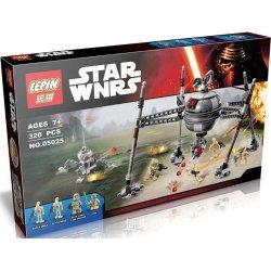 Lepin 05025 Star Wars 75142 Homing Spider Droid Xếp hình robot nhện chiến đấu 320 khối