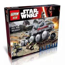 Lepin 05031 Star Wars 75151 Clone Turbo Tank Xếp hình siêu tăng 933 khối