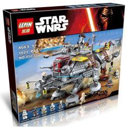 Lepin 05032 Star Wars 75157 Captain Rex's AT-T Xếp hình tàu đi bộ của thuyền trưởng 1022 khối