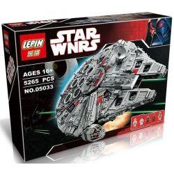 Lepin 05033 Lele 35002 Star Wars 10179 Ultimate Collector's Millennium Falcon Xếp hình phi thuyền chim ưng ngàn tuổi lớn 5265 khối