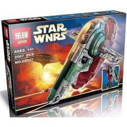 Lepin 05037 Star Wars 75060 Slave Xếp hình tàu Nô Lệ của thợ săn tiền thưởng 2067 khối