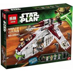 Lepin 05041 (NOT Lego Star wars 75021 Republic Gunship ) Xếp hình Phi Thuyền Chiến Đấu Phe Cộng Hòa 1175 khối