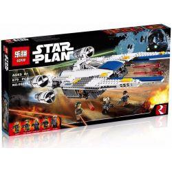 Lepin 05054 Star wars 75155 Rebel U-Wing Fighter Xếp hình Phi Thuyền Chiến Đấu Cánh Chữ U 679 khối