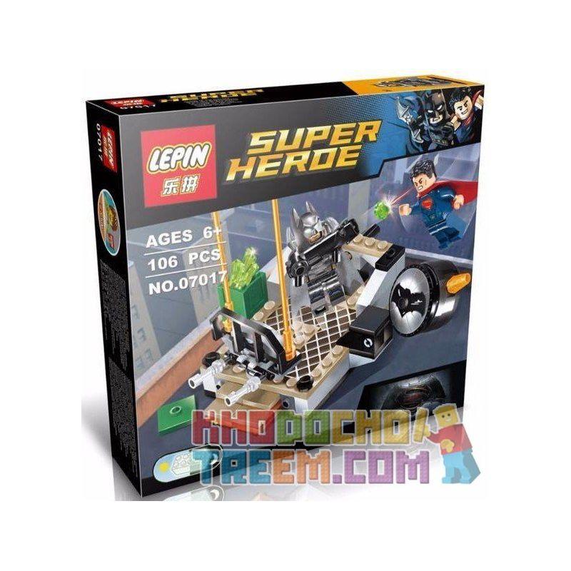 Lepin 07017 Super Heroes 76044 Clash Of The Heroes Xếp hình Đại Chiến Người Dơi Và Siêu Nhân 106 khối