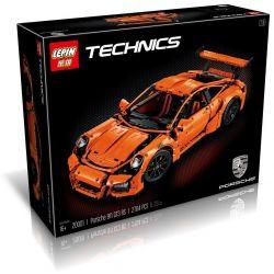Lego Technic 42056 Decool 3368 3368A 3368B 3368C Lepin 20001 20001B 20001C Bela 10570 Lele 38004 Porsche 911 GT3 RS Xếp hình xe ô tô đua Porsche 911 GT3 RS màu trắng cam xanh lá 2704 khối