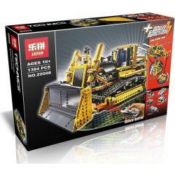 Lego Technic 8275 Lepin 20008 Motorized Bulldozer Xếp hình xe ủi bánh xích điều khiển từ xa 1384 khối
