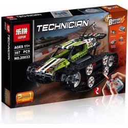 Lepin 20033 Technic 42065 RC Tracked Racer Xếp hình ô tô đua bánh xích điều khiển từ xa 397 khối