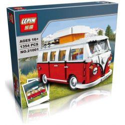 Lepin 21001 Bela 10569 Yile 306 Sheng Yuan 1174 (NOT Lego Creator Expert 10220 Volkswagen T1 Camper Van ) Xếp hình Ô Tô Bán Tải Cắm Trại Volkswagen T1 1354 khối