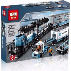 Lepin 21006 Creator Exclusives 10219 Maersk Train Xếp hình Tầu Hỏa Maersk Có Thể Lắp Động Cơ Pin 1237 khối