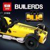Lego Creator 21307 Lepin 21008 Yile 006 Decool 8612 Caterham Seven 620R Xếp hình ô tô Caterham Seven 620R vàng xanh da trời 771 khối