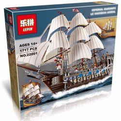 Lepin 22001 Lele 39010 Pirates 10210 Imperial Flagship Xếp hình tàu chiến hoàng gia 1717 khối