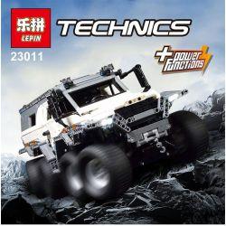 Lego Technic MOC-5360 Lepin 23011 23011B Avtoros Shaman 8x8 Xếp hình ô tô địa hình 8 bánh chủ động điều khiển từ xa trắng cam 2816 khối