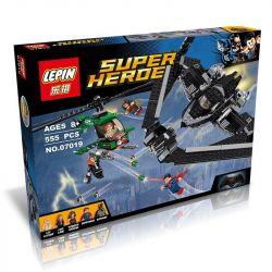 Decool 7118 Lepin 07019 Super Heroes 76046 Heroes of Justice: Sky High Battle Xếp hình trận chiến trên cao của các siêu anh hùng 518 khối