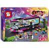 Bela 10407 Sheng Yuan SY381 Friends 41106 Pop Star Tour Bus Xếp hình Xe buýt lưu diễn của siêu sao nhạc Pop 648 khối