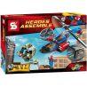 Decool 7106 Bela 10240 Sheng Yuan 315 SY315 (NOT Lego Marvel Super Heroes 76016 Spider-Helicopter Rescue ) Xếp hình Trực Thăng Giải Cứu Người Nhện 299 khối