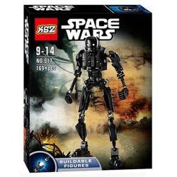XSZ KSZ 617 (NOT Lego Star wars 75120 Constraction K-2So ) Xếp hình Robot K-2So 169 khối