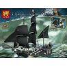 Lepin 16006 Lele 39009 Pirates of the Caribbean 4184 The Black Pearl Xếp hình Con Tàu Ngọc Trai Đen Huyền Thoại 804 khối