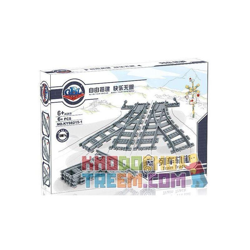 Kazi Gao Bo Le Gbl Bozhi KY98215-1 (NOT Lego City 7895 Switching Tracks ) Xếp hình Bộ Ray Tàu Hỏa Cong Và Chuyển Làn 8 khối