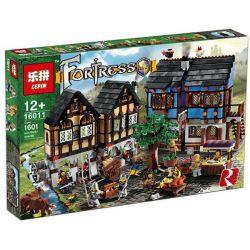 Lepin 16011 Castle 10193 Medieval Market Village Xếp hình Chợ làng Trung cổ 1601 khối