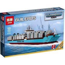 Lepin 22002 (NOT Lego Creator Expert 10241 Maersk Line Triple-E ) Xếp hình Tàu Chở Container Maersk 1518 khối