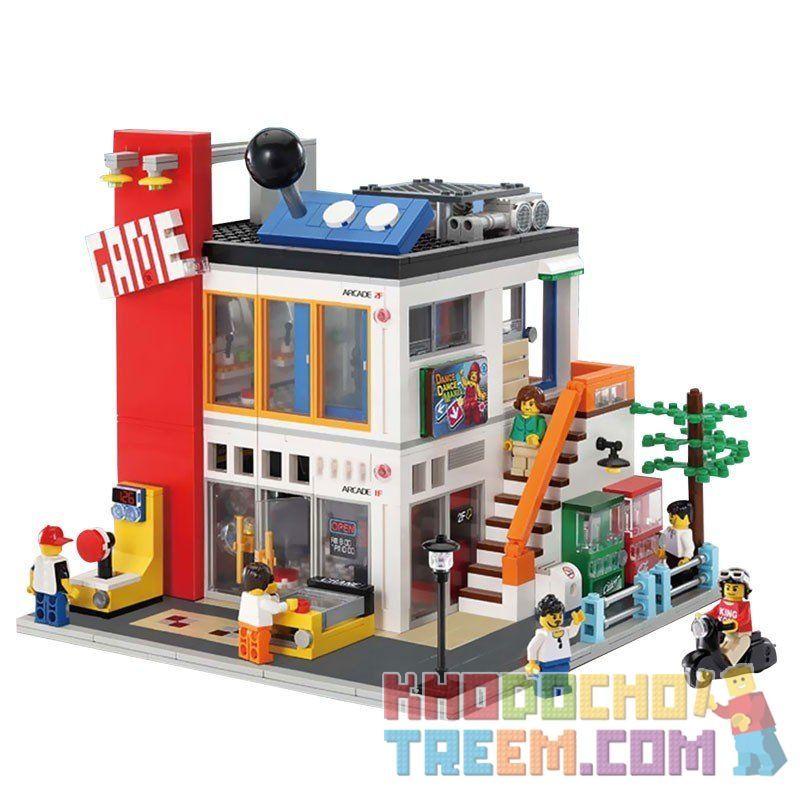 Lego Creator MOC Modular Buildings Lepin 15029 The Cool Children Gaming Room Xếp hình Trung tâm trò chơi 1551 khối