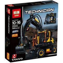 Lepin 20023 Technic 42053 Volvo Ew160E Xếp hình Xe Xúc Đất Volvo Ew160E 1166 khối