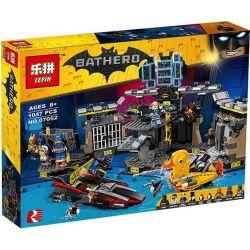 Lepin 07052 Bela 10636 The Batman Movie 70909 Batcave Break-In Xếp hình Đột nhập Hang Dơi 1047 khối