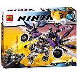 Bela 10224 Lele 31039 (NOT Lego Ninjago Movie 70725 Nindroid Mechdragon ) Xếp hình Rô Bốt Rồng Máy 691 khối