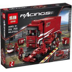 Lepin 21022 Racers 8185 Ferrari Truck Xếp hình Xe tải chở ô tô đua Ferrari 554 khối