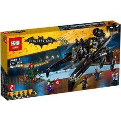 Lepin 07056 Decool 7127 Bela 10635 Sheng Yuan 871 SY871 (NOT Lego Batman Movie 70908 The Scuttler ) Xếp hình Phi Thuyền Dơi 775 khối