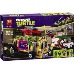 Bela 10211 Teenage Mutant Ninja Turtles TMNT 79104 The Shellraiser Street Chase Xếp hình Truy Đuổi Trên Phố 627 khối