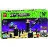 Bela 10178 Lele 79073 Bolx 81117 (NOT Lego Minecraft 21117 The Ender Dragon ) Xếp hình Rồng Địa Ngục 634 khối