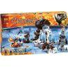 Bela 10356 Lepin 04023 Chima 70226 Mammoth's Frozen Stronghold Xếp hình Khu Bảo Tồn Đông Lạnh Của Mammoth 621 khối