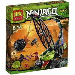 Bela 9761 (NOT Lego Ninjago Movie 9457 Fangpyre Wrecking Ball ) Xếp hình Xe Chùy Bọ Cạp 415 khối