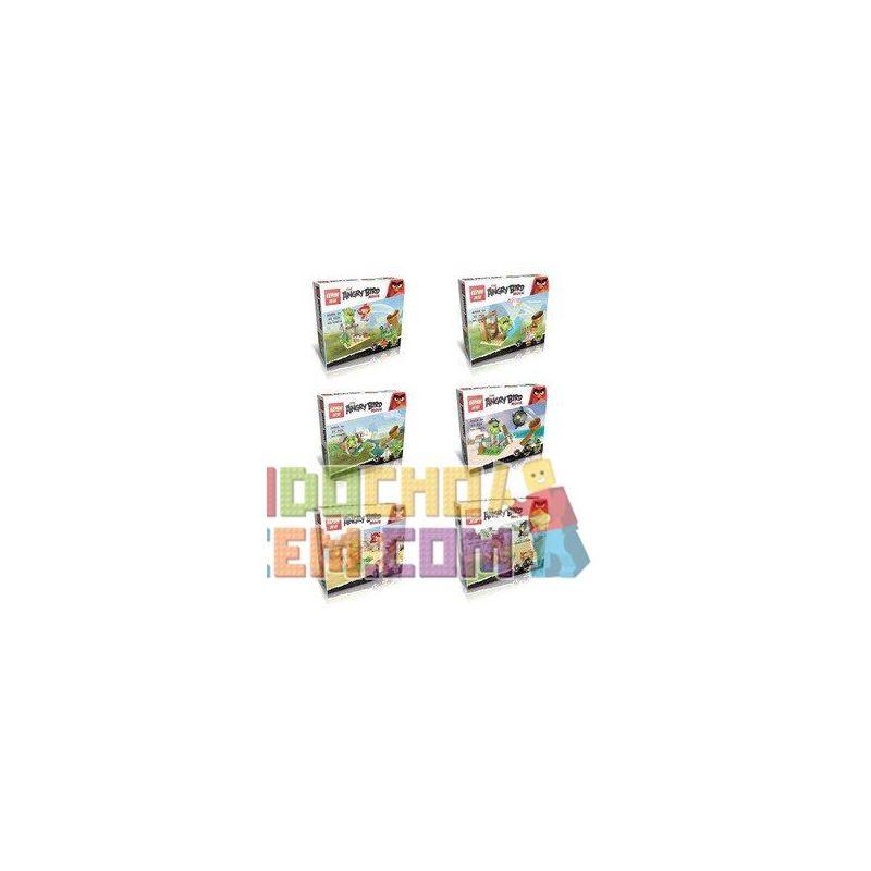 Lego Angry Birds Lepin 19007 Six new Angry Birds Xếp hình Sáu con chim điên mới 377 khối
