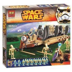 Bela 10374 Star Wars 75086 Battle Droid Troop Carrier Xếp hình Xe chở robot lính bộ binh 565 khối