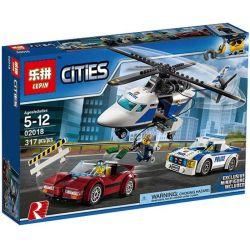 Lego City 60138 Lepin 02018 Lele 39051 High-speed Chase Xếp hình Đuổi bắt tốc độ cao 317 khối