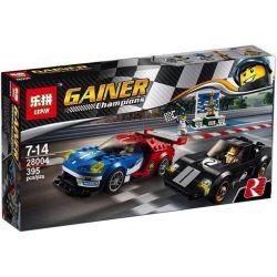 Lepin 28004 Sheng Yuan 6772A SY6772A 6772B SY6772B (NOT Lego Speed Champions 75881 2016 Ford Gt & 1966 Ford Gt40 ) Xếp hình Ô Tô Ford Gt Đời 2016 Và Ford Gt40 Đời 1996 gồm 2 hộp nhỏ 395 khối