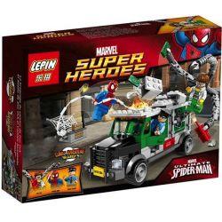 Bela 10239 Lepin 07009 (NOT Lego Marvel Super Heroes 76015 Doc Ock Truck Heist ) Xếp hình Xe Cứu Thương Doc Ock 237 khối