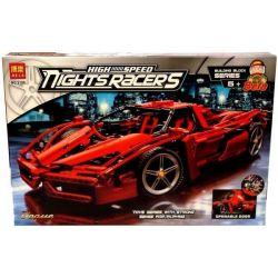Bela 9186 Technic 8653 Enzo Ferrari 1:10 Xếp Hình Xe ô Tô đua Enzo Ferrari Tỉ Lệ 1:10 1398 Khối