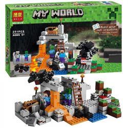 Bela 10174 Lepin 18016 Lele 79043 Minecraft 21113 The Cave Xếp Hình Cái Hang 251 Khối