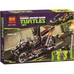 Bela 10207 TMNT Teenage Mutant Ninja Turtles 79101 Shredder's Dragon Bike Xếp hình Xe moto Rồng của Shredder 203 khối