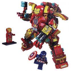 Lego Super Heroes MOC Sheng Yuan MK46 Lepin 38001 Iron Man MK46 Xếp hình Người Sắt MK46 338 khối