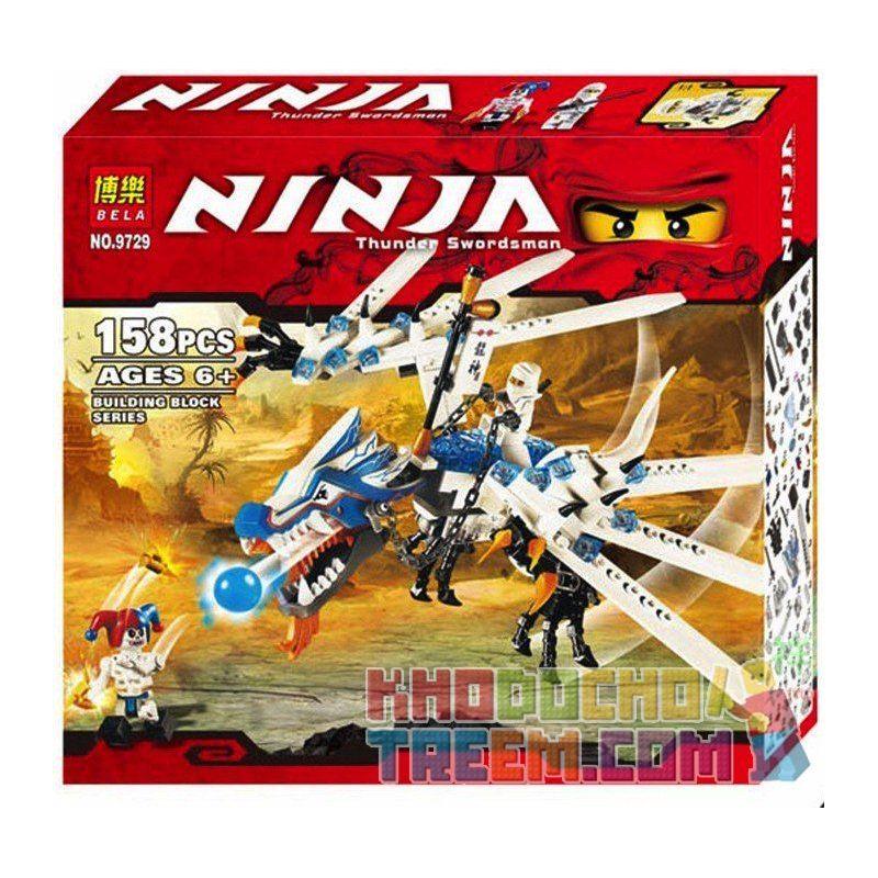 Bela 9729 Lele 79142 Ninjago 2260 Ice Dragon Attack Xếp hình Rồng băng của Zane 158 khối