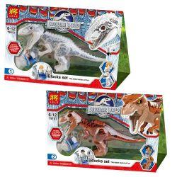 Lele 79151 YG 77011 YG 77012 Jurassic World Indominus Rex and Tyrannosaurus Rex Xếp hình Khủng long bạo chúa lai tạo 24 khối