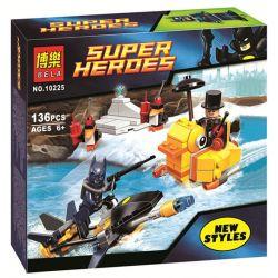 Bela 10225 (NOT Lego DC Comics Super Heroes 76010 Batman: The Penguin Face Off ) Xếp hình Tên Tội Phạm Penguin Đối Đầu Với Batman 136 khối