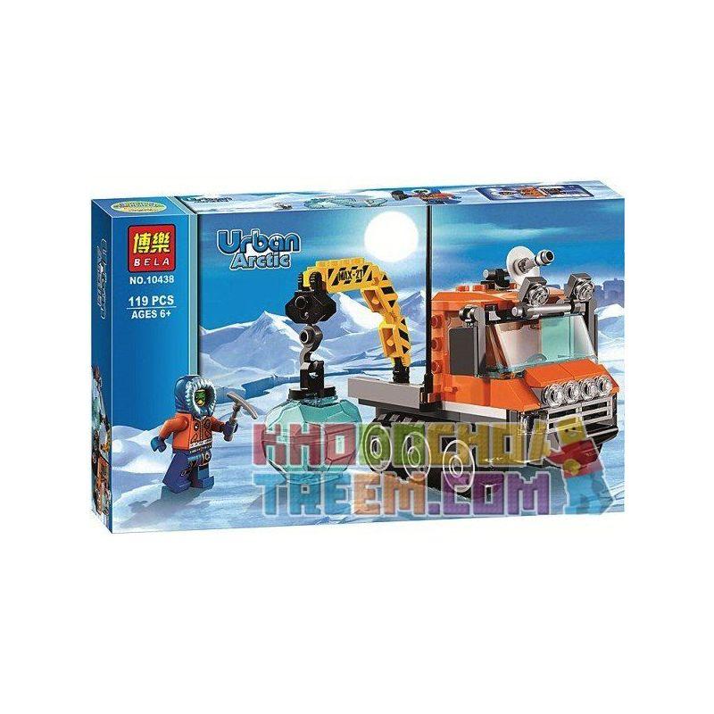 Bela 10438 City 60033 Arctic Ice Crawler Xếp hình Xe chuyên dụng Bắc Cực 119 khối